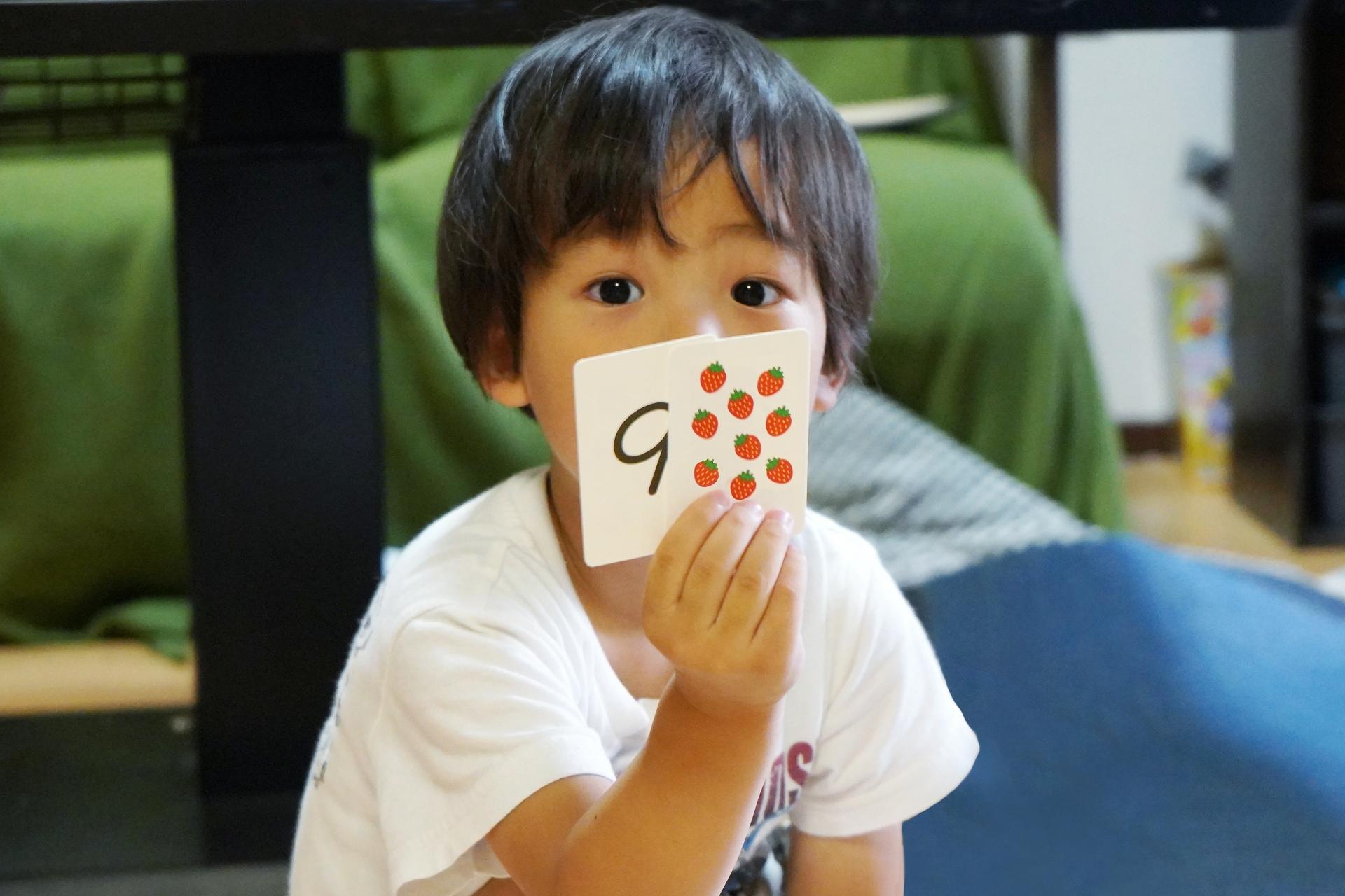 フラッシュカード、インプット、乳幼児